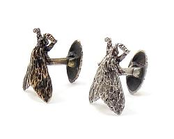 The HEXAPODA Collection - Tiger Moth Cuff Links